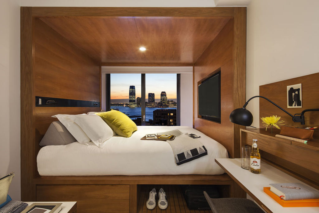 Arlo hotels aesthetic emphasizes open spaces and lots of light