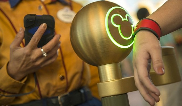Disney MagicBands contain their customer information